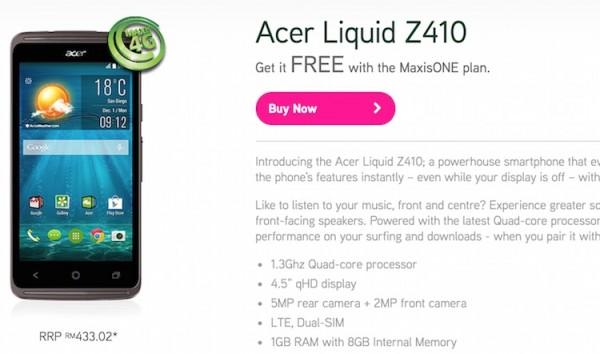 Maxis Acer Liquid Z410