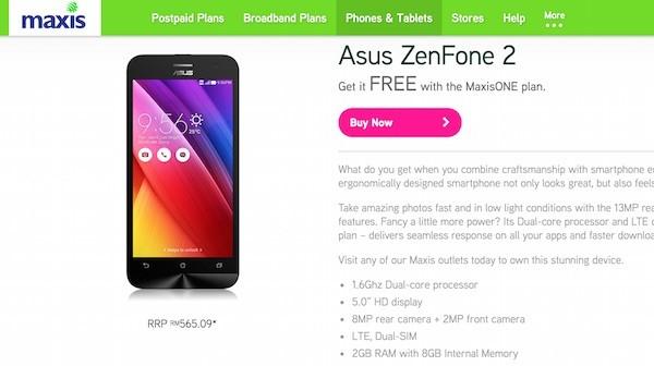 Maxis Asus ZenFone 2