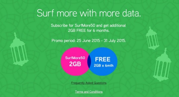 Maxis SurfMore 50 Free 2GB Data