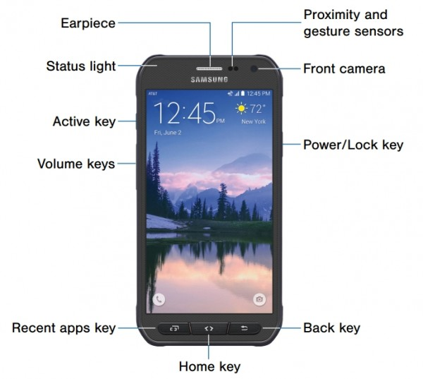 Samsung Galaxy S6 Active Front