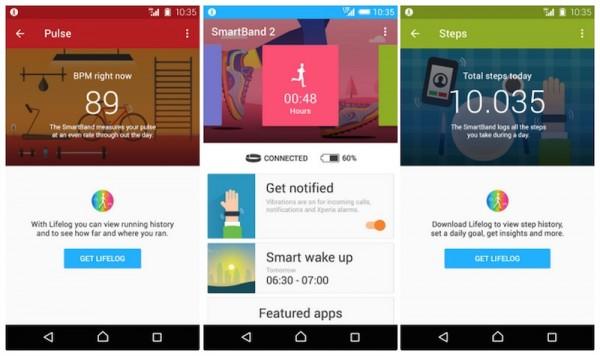 Sony SmartBand 2 App