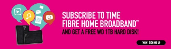 Time Broadband Free WD HDD