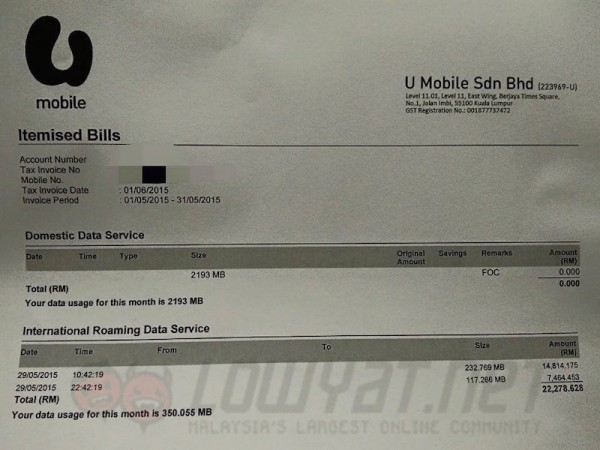 U Mobile Bill Shock 2