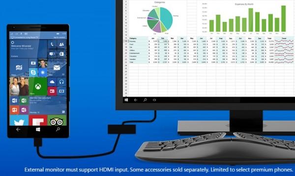 Windows Continuum for Windows 10 Phones