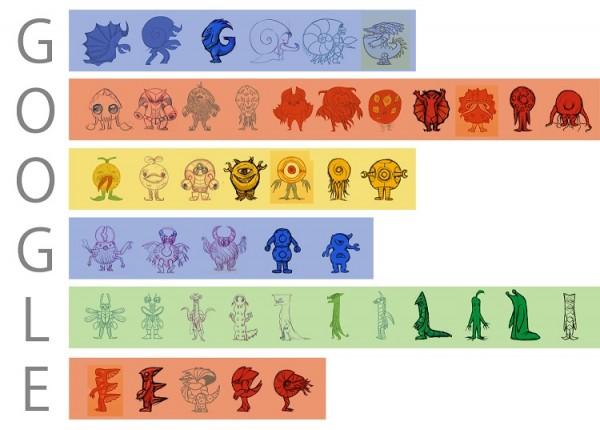 Google Doodle Monsters