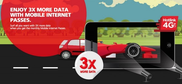 Hotlink 3x More Data Promotion