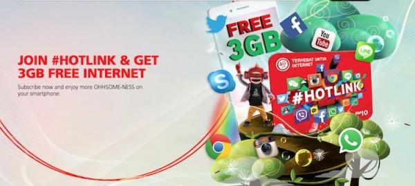 Hotlink Free 3GB Data