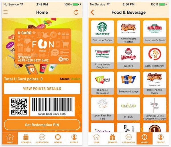 MYUMOBILE App U Card Rewards