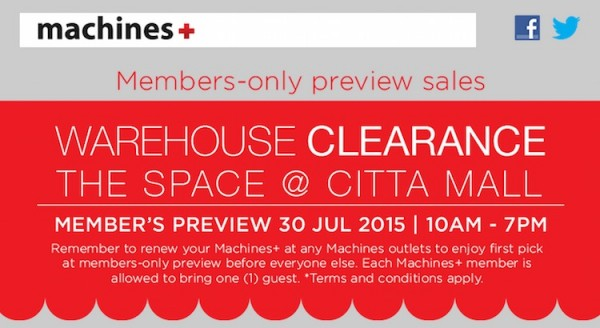 Machines Members Wearhouse Clearance Sales