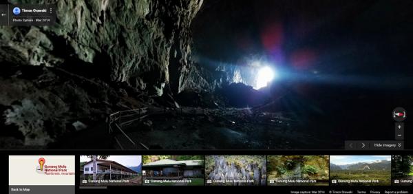 Mulu Caves Street View