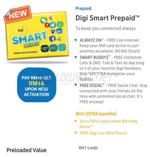 New Digi Smart Prepaid Details