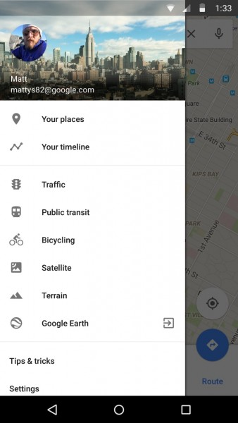 New Google Maps Timeline