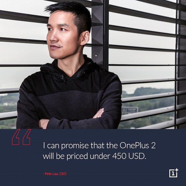 Peter Lau OnePlus 2 Below 450 USD