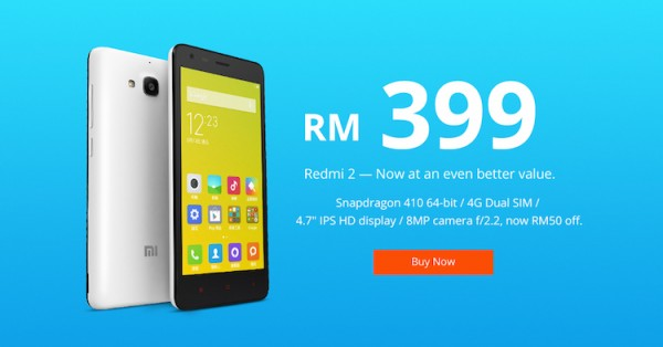 Redmi 2 Now RM399