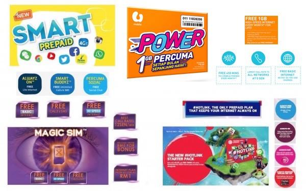 U Mobile Power Prepaid vs Digi-Smart-Prepaid-vs-Magic-SIM-vs-Hotlink-600x375