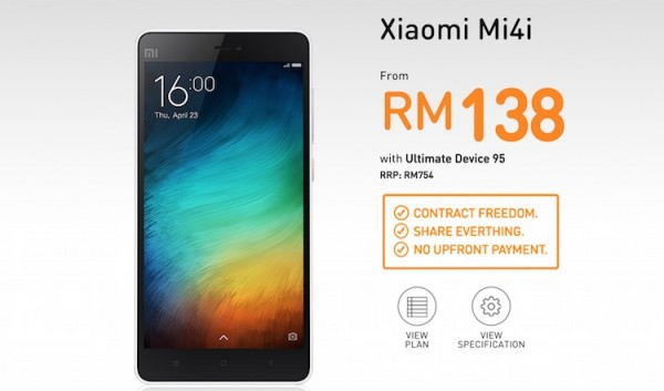 U Mobile Xiaomi Mi 4i Bundle