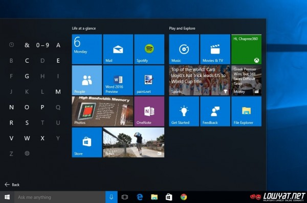 Windows 10 Start Menu 06