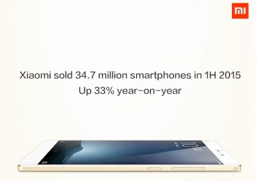 Xiaomi Sold 34.7 Million Smartphones in 1H 2015