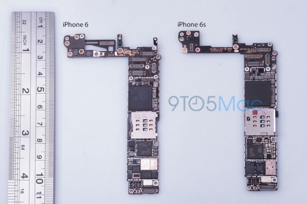 iPhone 6 vs iphone 6s Logic Board