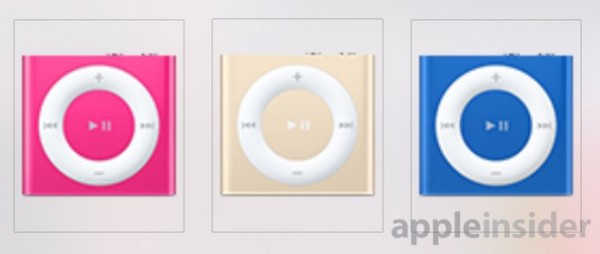 iPod Shuffle Hot Pink, Gold and Dark Blue