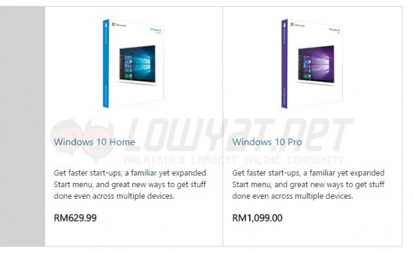Windows 10 Prices - Microsoft Store Malaysia