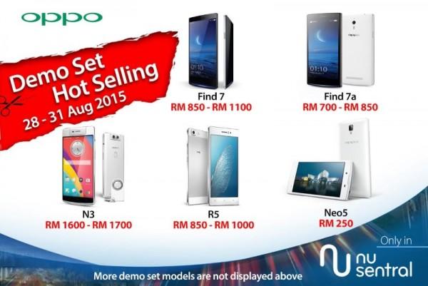OPPO Malaysia Demo Set Sale