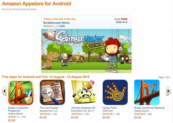 Amazon Appstore UK Free Android Apps 13 to 15 August 2015