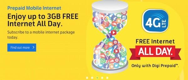 Digi prepaid mobile internet add on August 2015