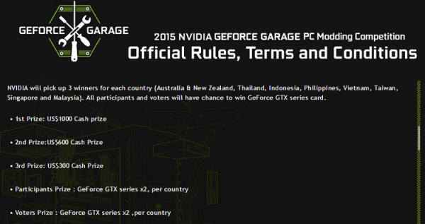 GeForce Garage Modding Competition Prizes