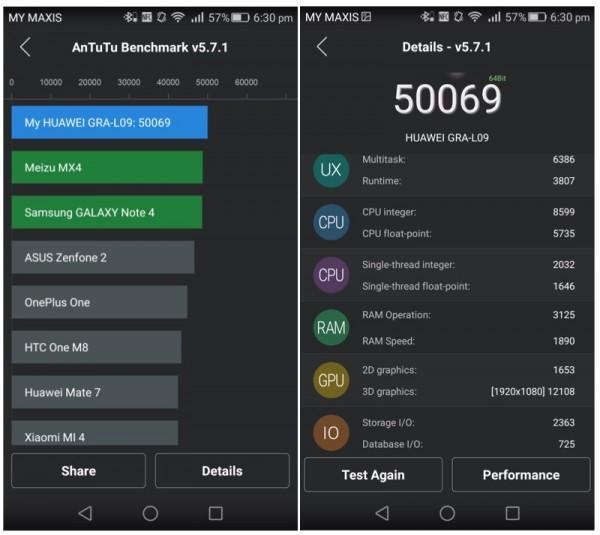Huawei P8 AnTuTu Score 1