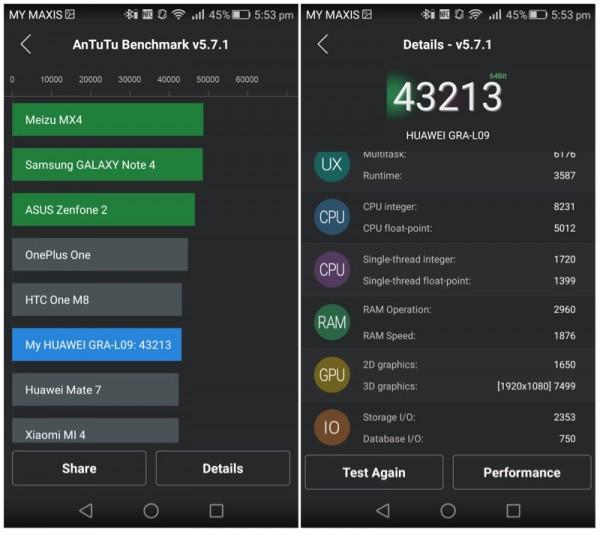 Huawei P8 AnTuTu Score 2