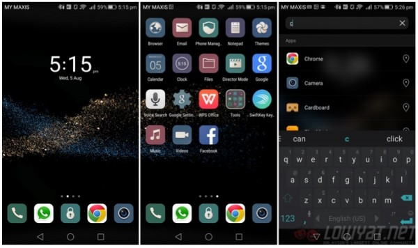 Huawei P8 Homescreen
