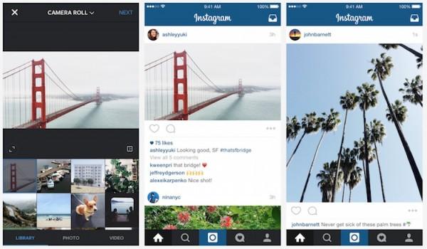 Instagram Landscape and Portrait View