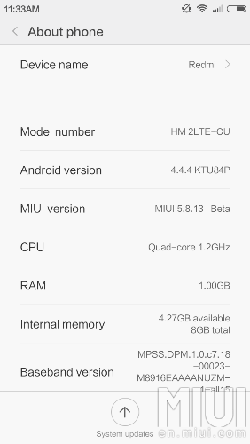 MIUI 7 on Redmi 2