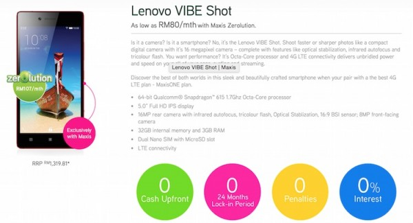 Maxis Lenovo Vibe Shot Zerolution