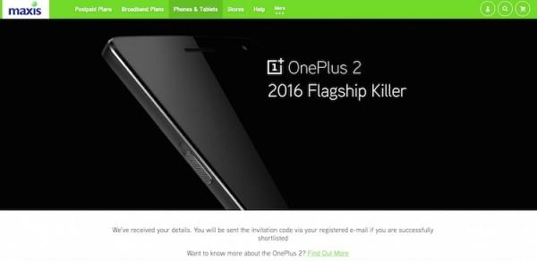 Maxis OnePlus 2 ROI