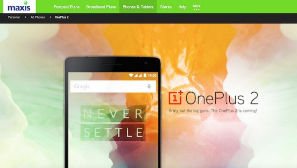 Maxis OnePlus 2 Registration