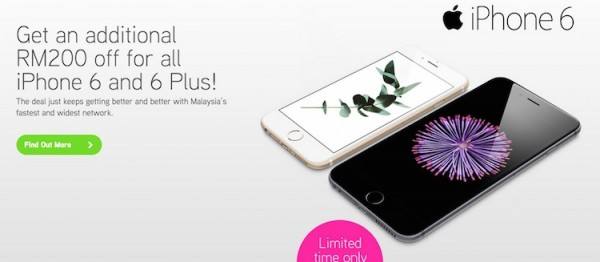 Maxis iPhone 6 Additional RM200 Discount