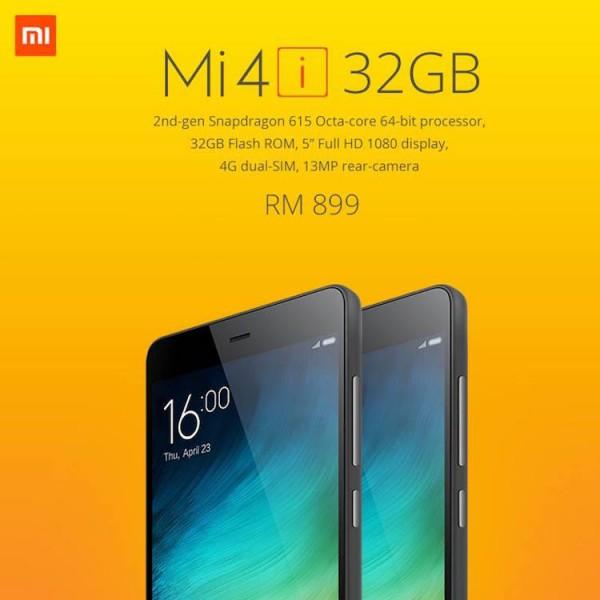 Mi 4i 32GB Malaysia RM899
