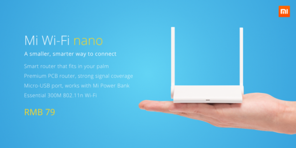 Mi Wi-Fi Nano Palm of Hand