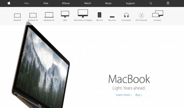 New Apple Site Design Buy Button on Product Page