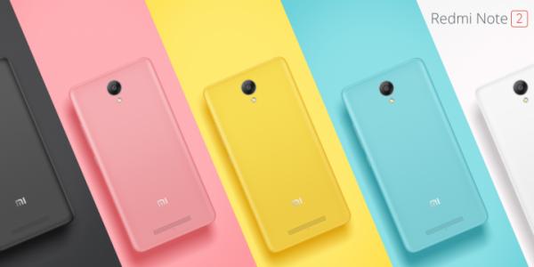 Redmi Note 2 Colours