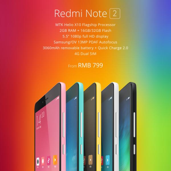 Redmi Note 2 Price and Specs