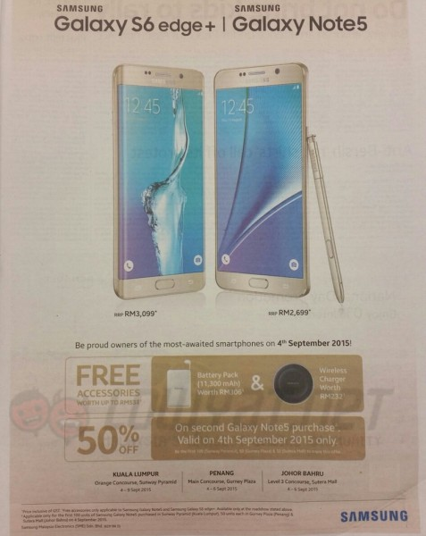 Samsung Galaxy Note 5 and S6 edge Plus Promotion