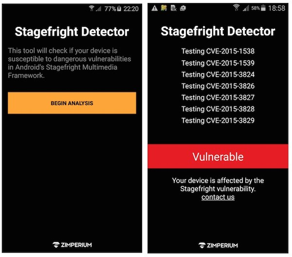 Stagefright Detector by Zimperium