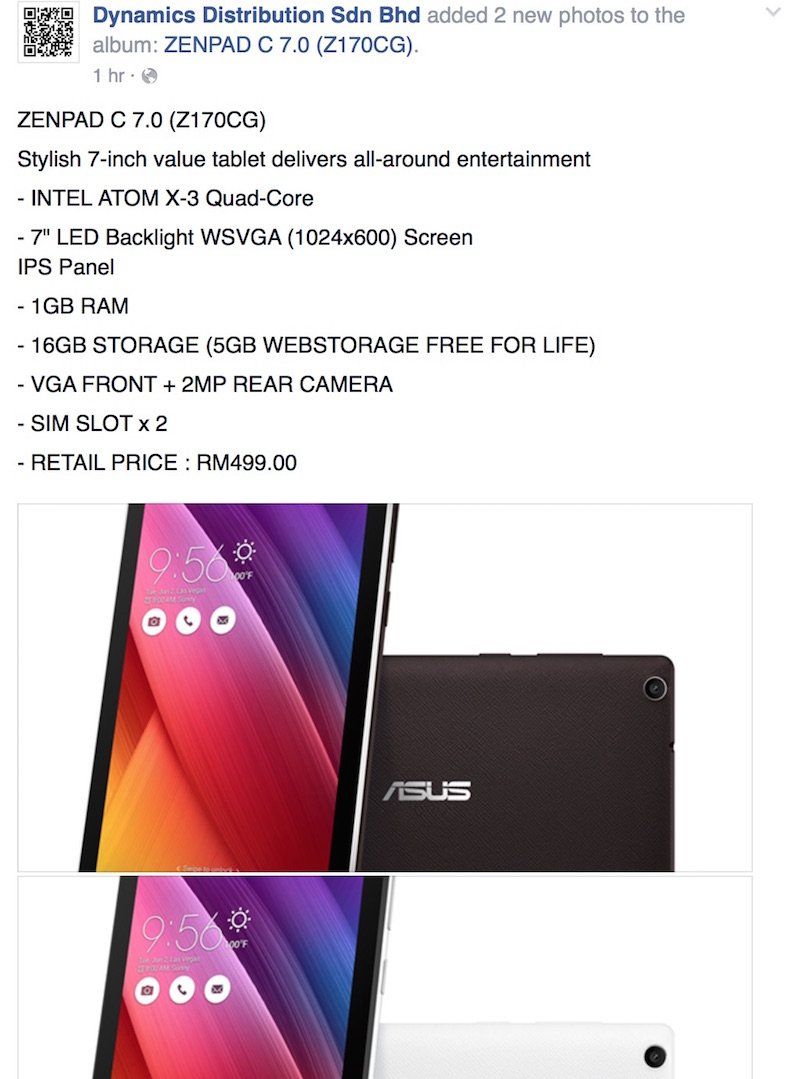 Asus ZenPad C 7 0 Will Retail for RM499 | Lowyat NET