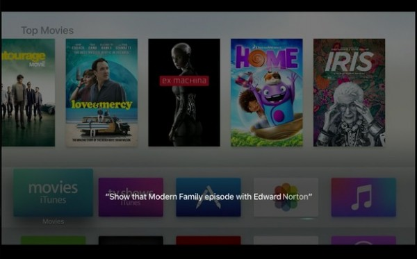 Apple TV Voice Search