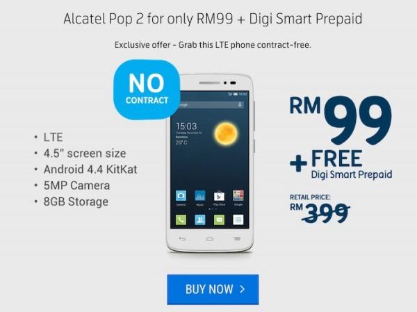 Digi Alcatel Pop 2 Prepaid