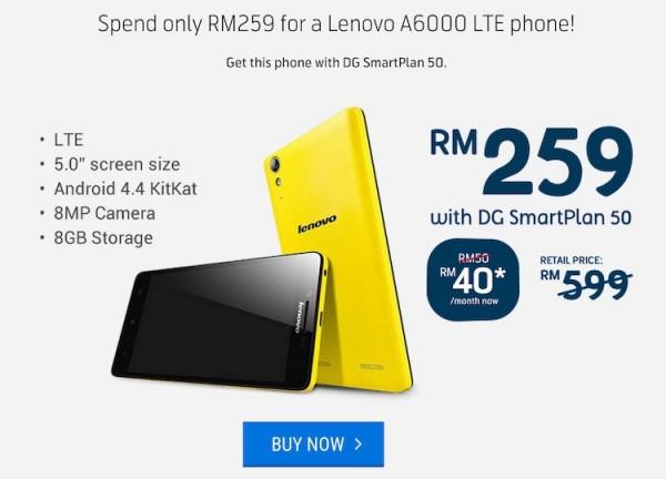 Digi MyCyberSale Lenovo A6000