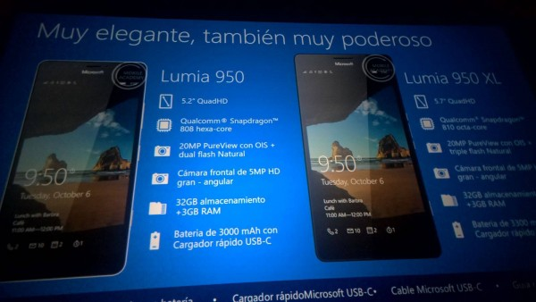 Lumia 950 Specs Leak Slide